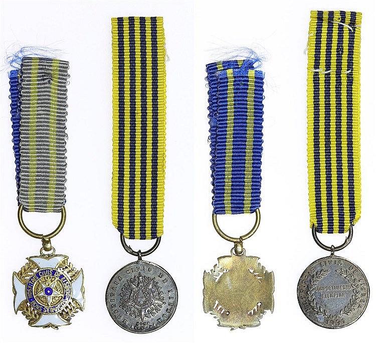 Portugal - Medal - 2 expl. Hospitais Civis de Lisboa 1931; nd