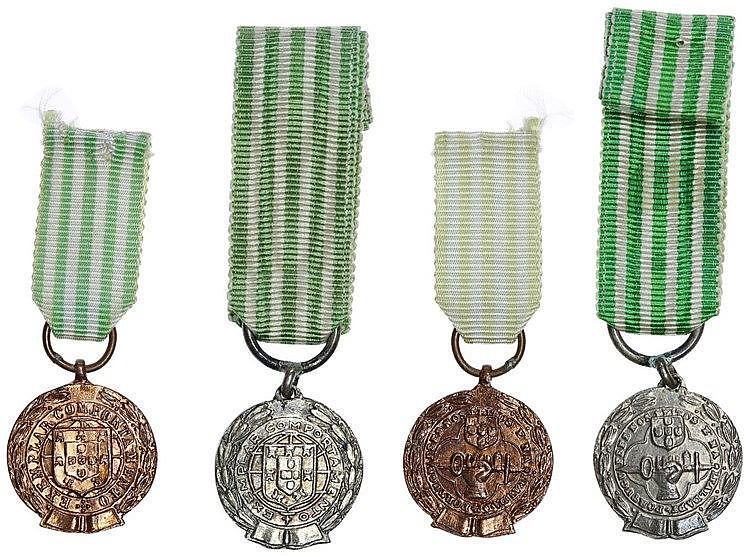 Portugal - Medal - 2 expl. Comportamento exemplar (1971)