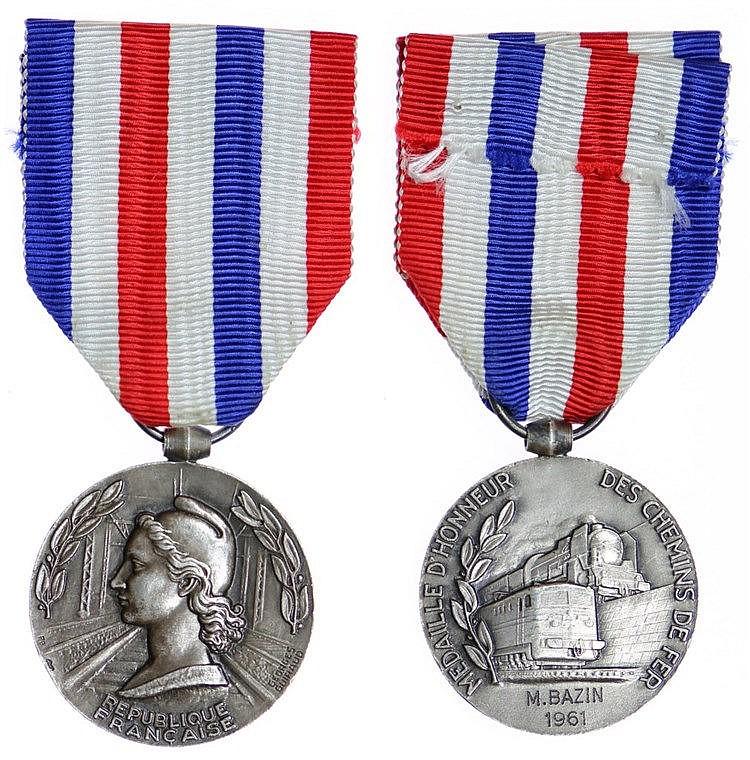 France - Medal - Chemins de Fer 1961