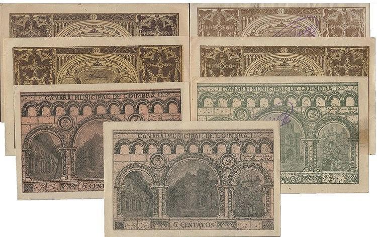Cédula - Coimbra 7 expl. 5, 10 Centavos 1921