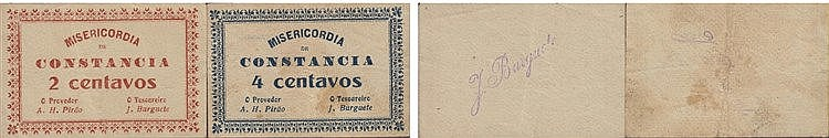 Cédula - Constância 2 expl. 2, 4 Centavos N/D