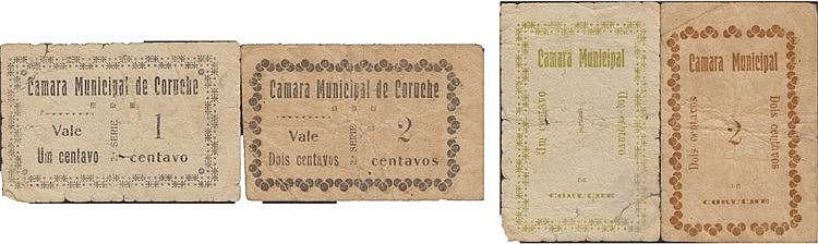 Cédula - Coruche 2 expl. 1, 2 Centavos N/D