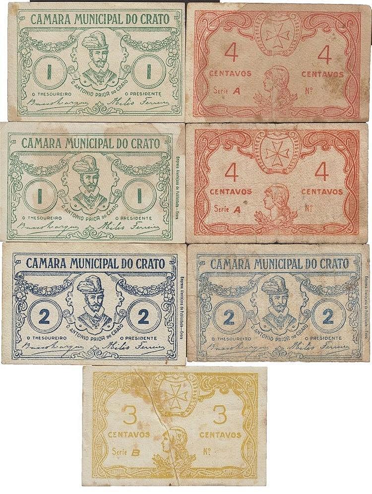 Cédula - Crato 7 expl. 1, 2, 3, 4 Centavos N/D
