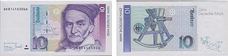 Paper Money - Germany 10 Deutsche Mark 1993