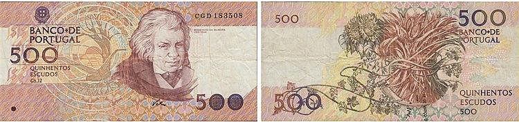Paper Money - Portugal - 500$00 ch. 12, ERROR