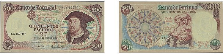 Paper Money - Portugal 500$00 ch. 10 1979
