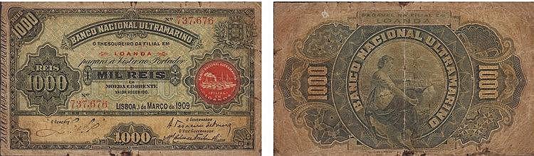 Paper Money - Angola 1000 Réis 1909