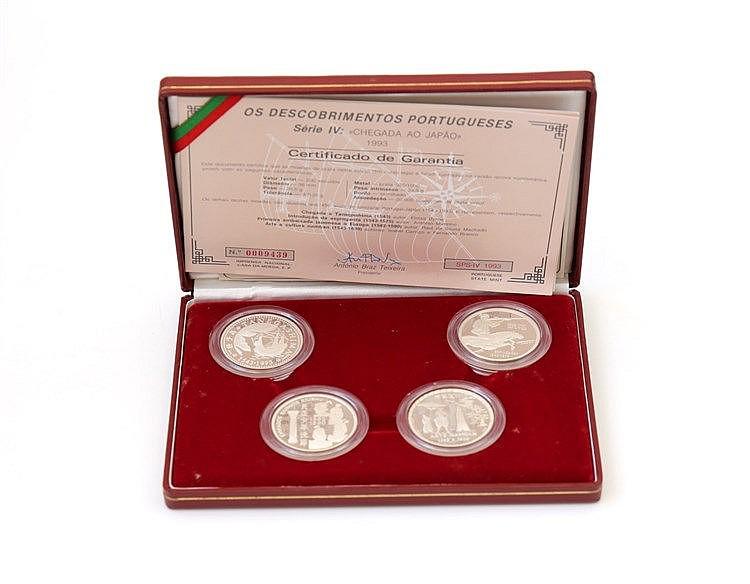 Portugal - Republic - 4 coins, IV Série Descobrimentos 1993
