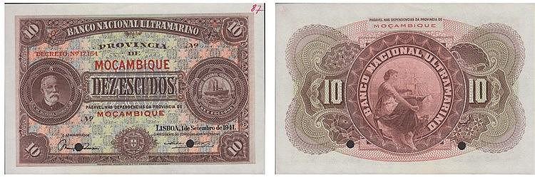 Paper Money - Mozambique 10$00 1941 SPECIMEN