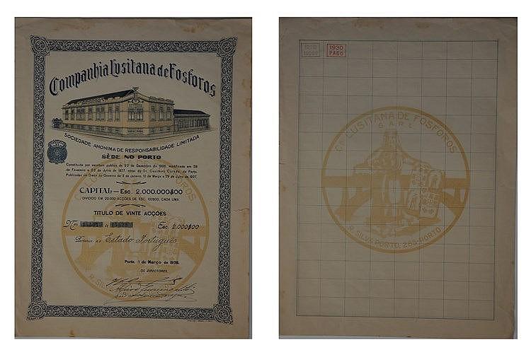 Título de Acção - 1000$00 1928
