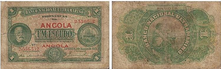 Paper Money - Angola 1$00 1921