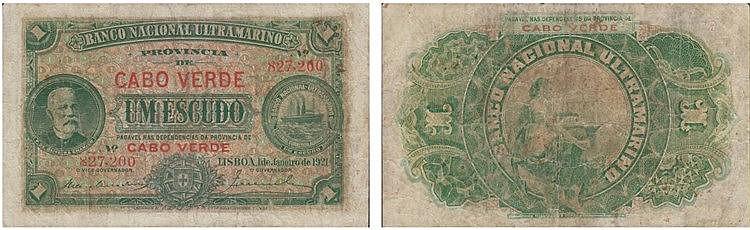 Paper Money - Cabo Verde 1$00 1921