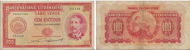 Nota - Cape Verde 100$00 1958