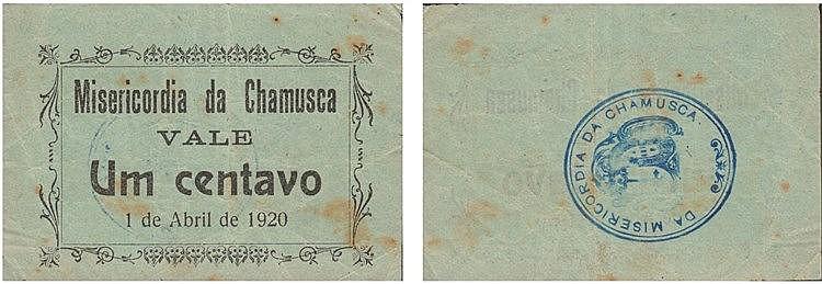 Cédula - Chamusca 1 Centavo 1920