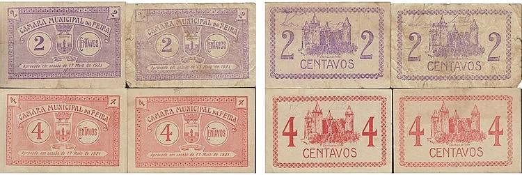 Cédula - Feira 4 expl. 2, 4 Centavos 1921