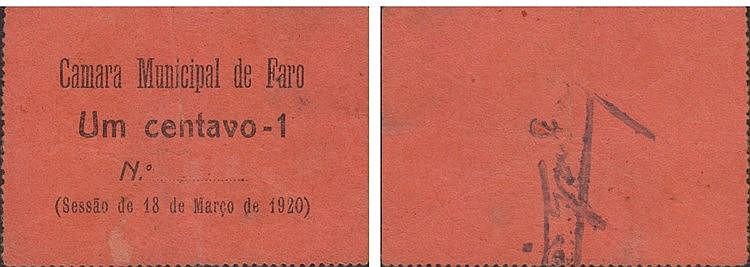 Cédula - Faro 1 Centavo 1920