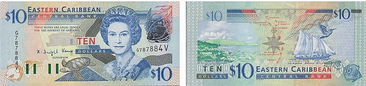 Paper Money - East Caribbean 10 Dollars ND (2003)