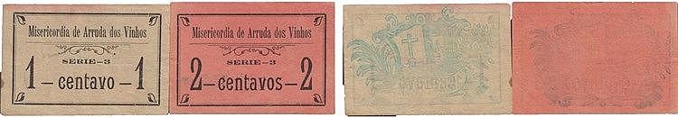 Cédula - Arruda dos Vinhos 2 expl. 1, 2 Centavos N/D