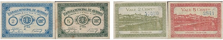 Cédula - Aveiro 2 expl. 2, 5 Centavos 1921