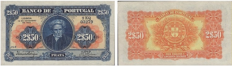 Paper Money - Portugal 2$50 ch. 2 1925