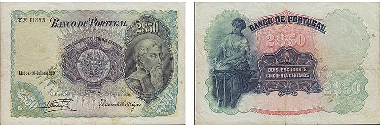Paper Money - Portugal - 2$50 ch. 1 1920
