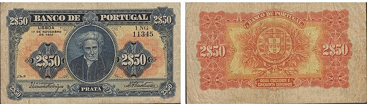 Paper Money - Portugal - 2$50 ch. 2 1922