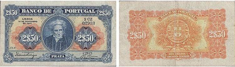 Paper money - 2$50 ch. 2 1925