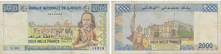 Paper Money - Djibouti 2 000 Francs ND (2005)