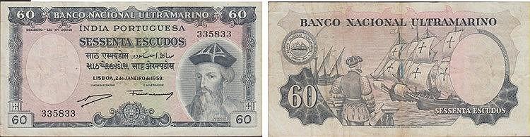 Paper Money - Portuguese India  60$00 1959