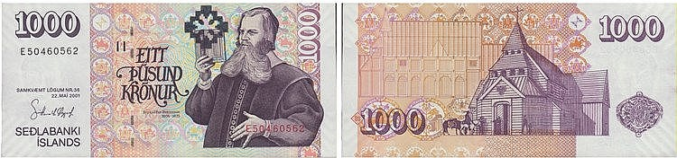 Paper Money - Iceland 1000 Kronur 1986 (2005)