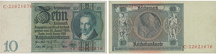 Paper Money - Germany 10 Reichsmark 1929