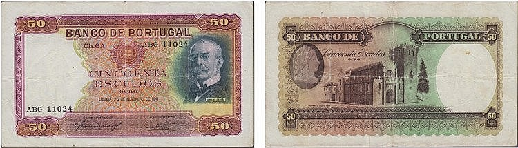 Paper Money - Portugal - 50$00 ch. 6A 1941