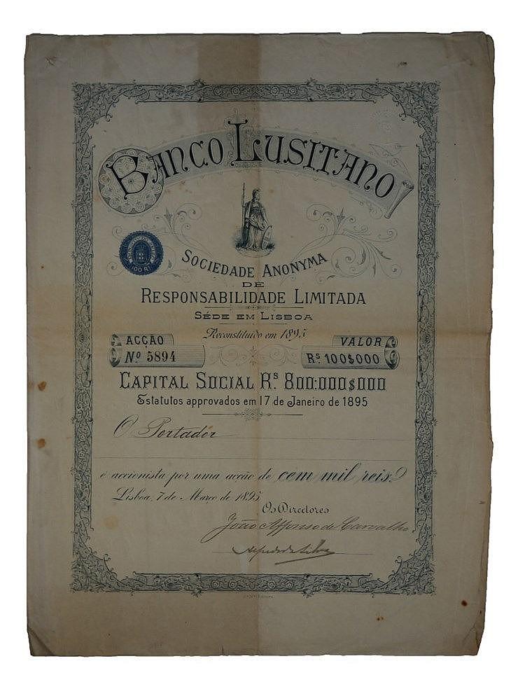 Título de Acção - 100$000 1895