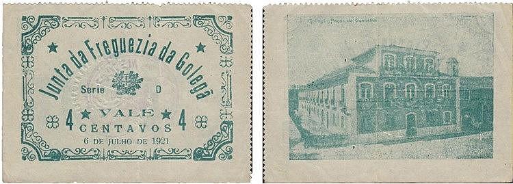 Cédula - Golegã 4 Centavos 1921