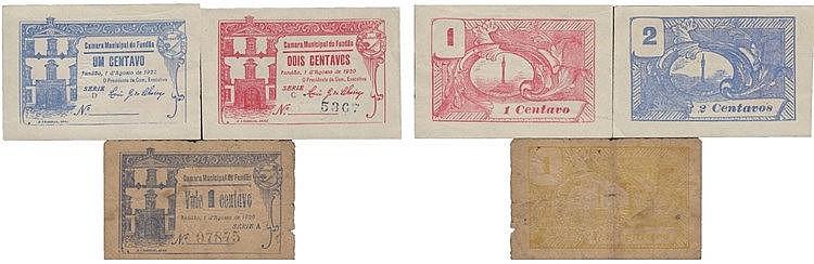 Cédula - Fundão 3 expl. 1 (2), 2 Centavos 1920-1922