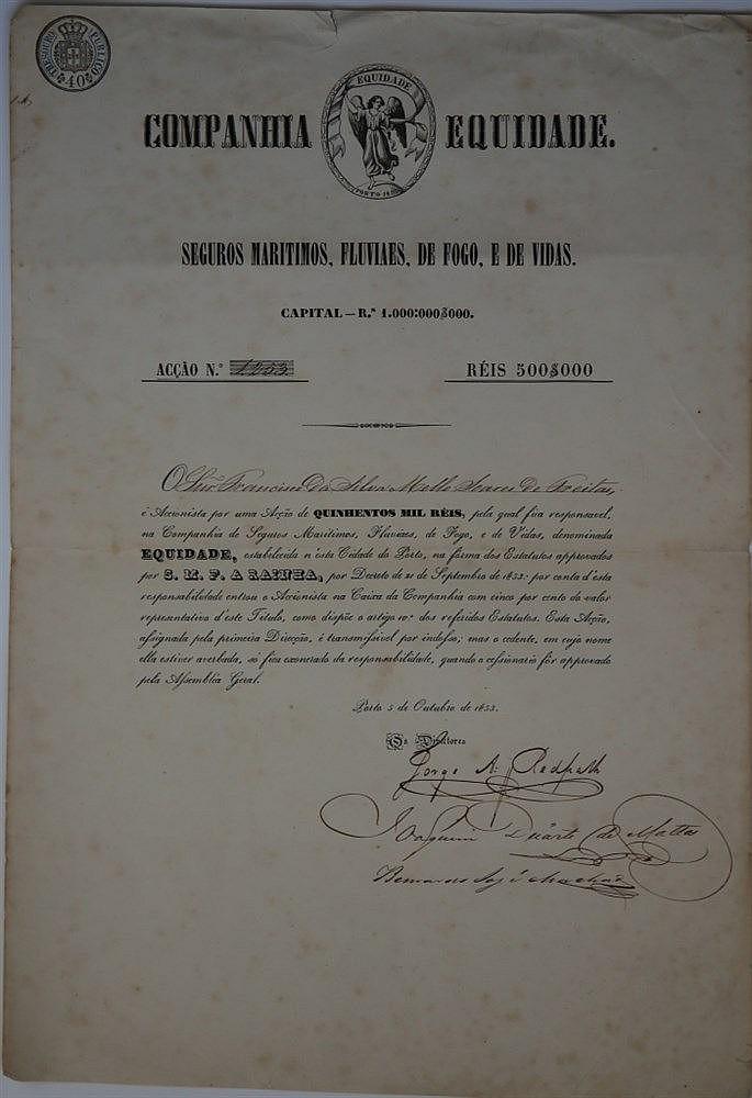 Título de Acção - 500$000 1853