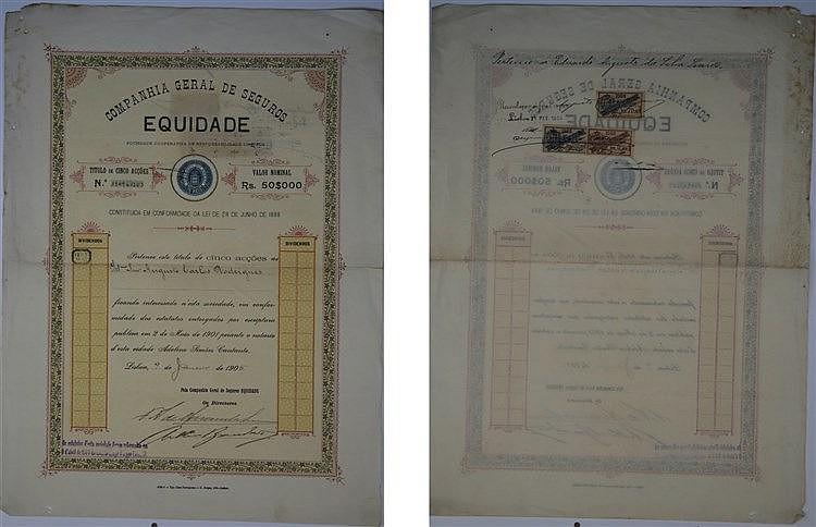 Título de Acção - 50$000 1906