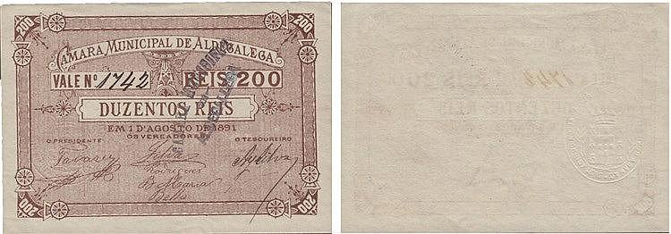 Cédula - Aldegalega 200 Reis 1891
