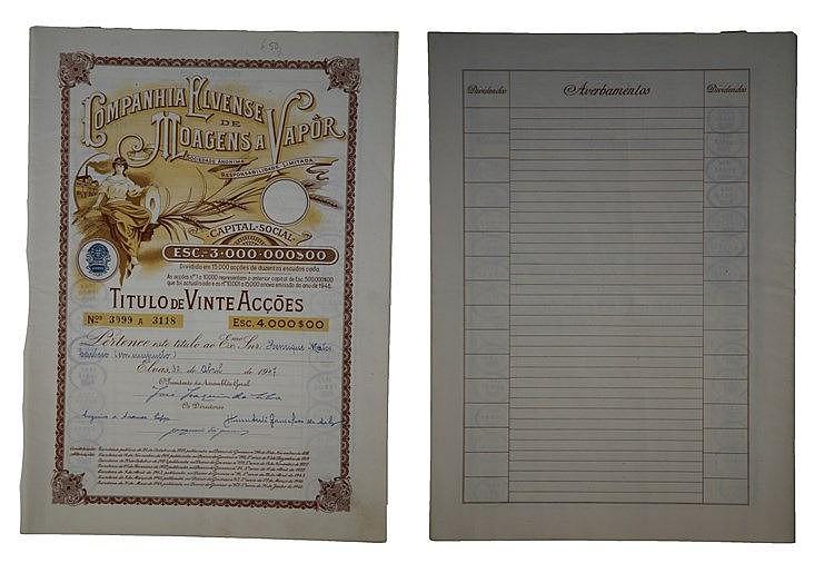 Título de Acção - 4000$00 1947