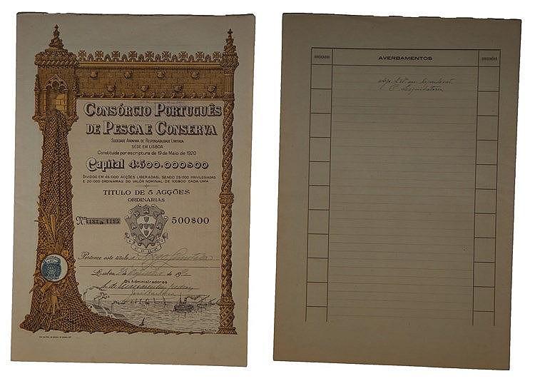 Título de Acção - 500$00 1920