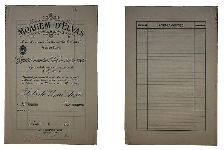 Título de Acção - 500$00 1933