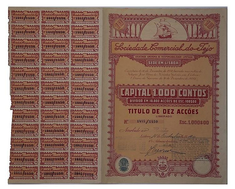 Título de Acção - 1000$00 1940
