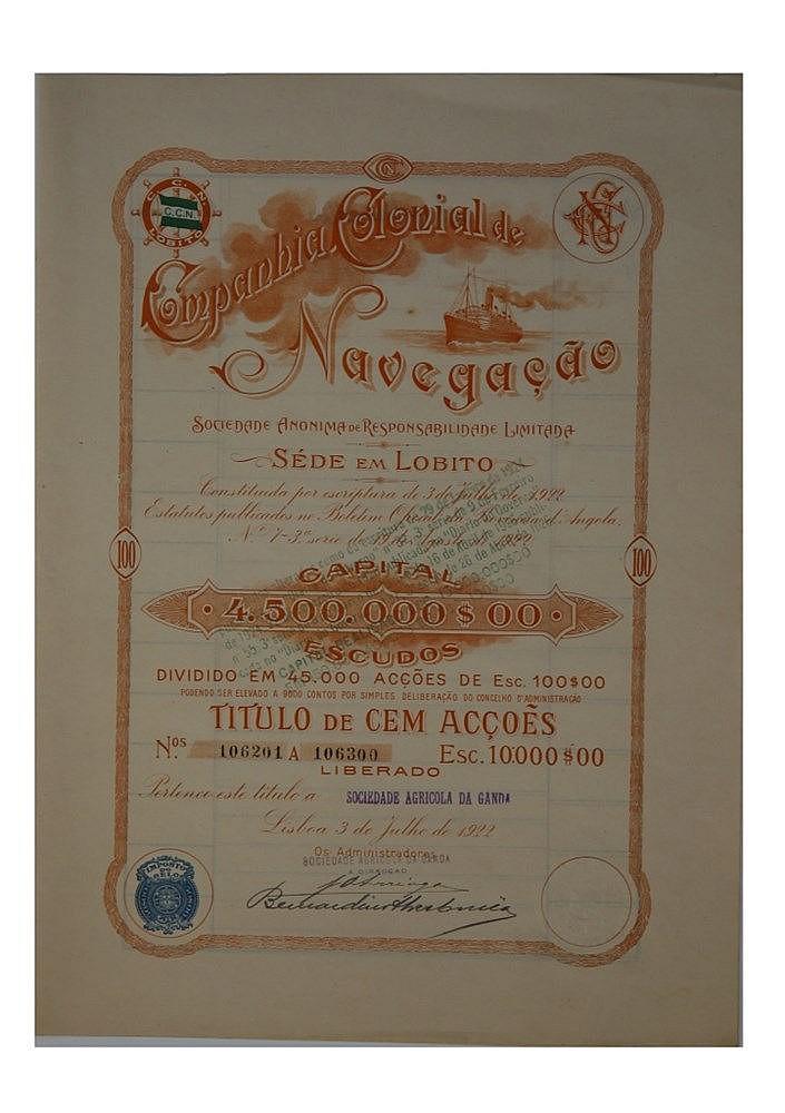 Título de Acção - 10000$00 1922