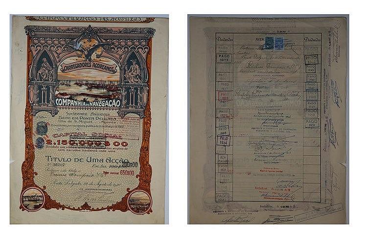 Título de Acção - 650$00 1920