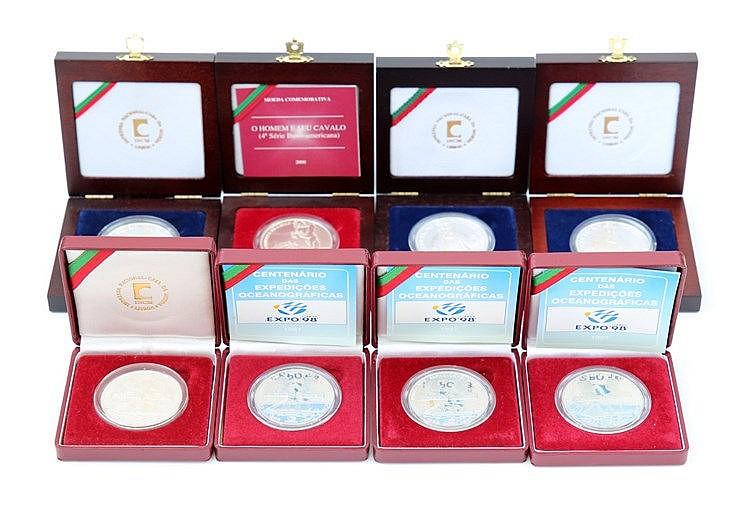 Portugal - Republic - 6 coins 1000$00 1996-2000
