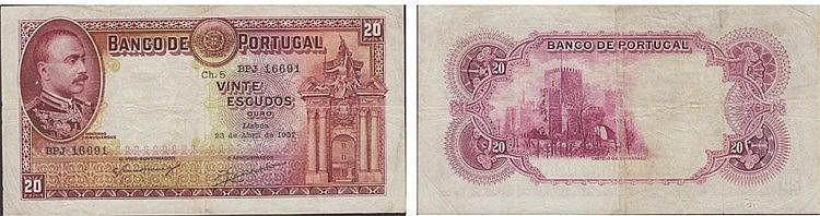 Paper money - 20$00 ch. 5 1937