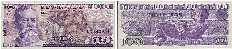 Paper Money - México 100 Pesos 1981