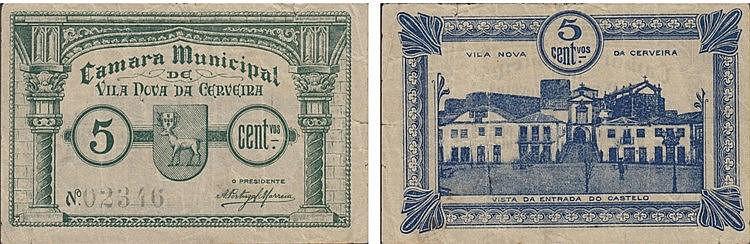 Cédula - Vila Nova de Cerveira 5 Centavos N/D