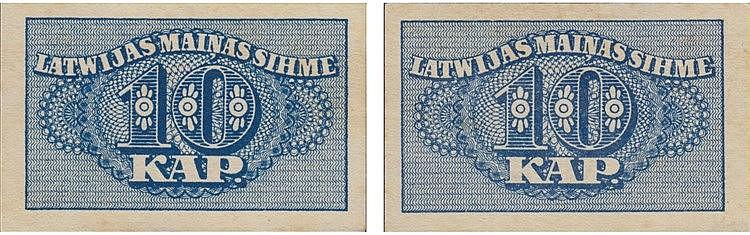 Paper Money - Latvia 10 Kapeikas ND (1920)