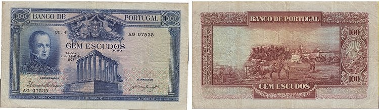 Paper Money - Portugal 100$00 ch. 4 1928